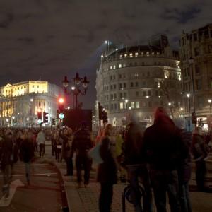 20091231 NYE London - Trafalgar Square HDR