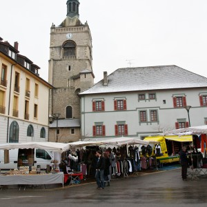 The market in Evian