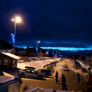 We all went to see the skiers come down the mountain in Thollon with the red flames, ready to welcome in the new year.