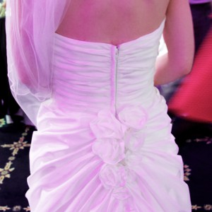 Caroline loves the detail on the back of Lynn's dress