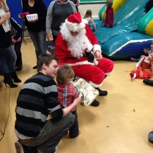 Thanks Santa! Oscar at the Metaswitch Children's party