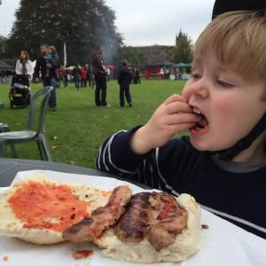 Sausage at the Hertford beer & food festival