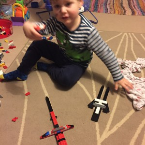 Things have escalated from Lego spaceships to Lego swords