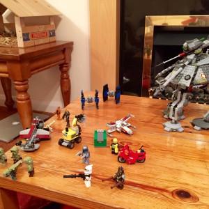 Oscar's Christmas Lego collection. Thanks Santa and Uncle Jonathan!