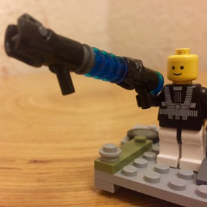 """Oscar's getting quite creative with his lego designs. It's a shame they're all guns! (Or """"shmms"""" as he calls them)"""