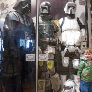 Star Wars characters in the toy museum