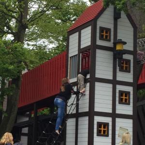 Clever Caroline climbing so high!