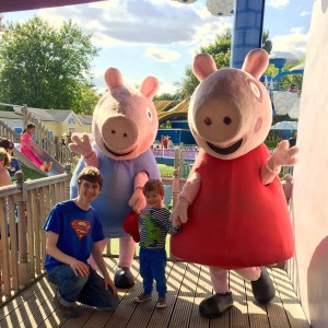 We found Peppa and George hanging around their school
