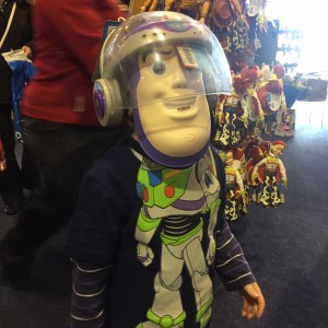 He thinks he's the REAL Buzz Lightyear!